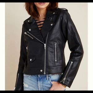 Anthropologie Classic Faux Leather Moto Ja…